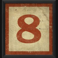 EB Number 8 in Red