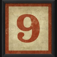 EB Number 9 in Red