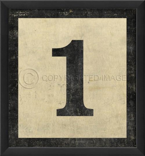 EB Number 1 in Black