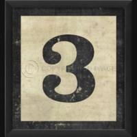 EB Number 3 in Black