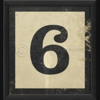 EB Number 6 in Black