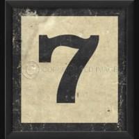EB Number 7 in Black