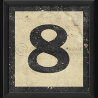 EB Number 8 in Black