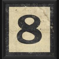 EB Number 8 in Black
