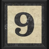 EB Number 9 in Black