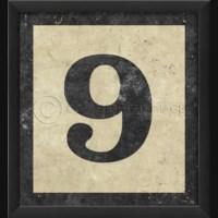 EB Number 9 in Black