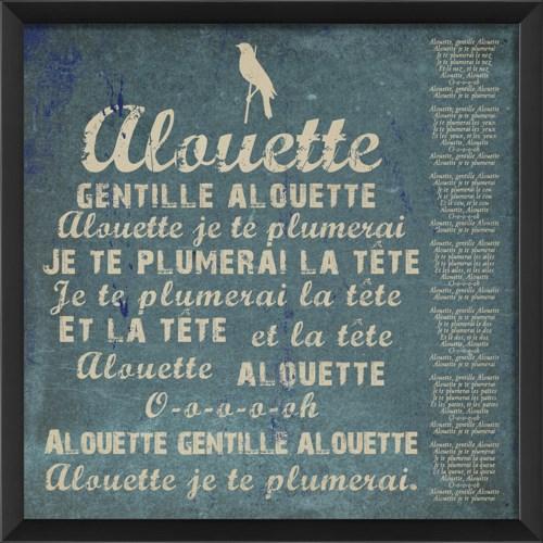 EB Alouette on blue