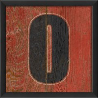 EB Number 0 wooden red