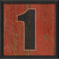 EB Number 1 wooden red
