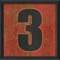 EB Number 3 wooden red