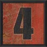 EB Number 4 wooden red