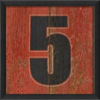EB Number 5 wooden red