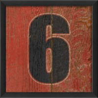 EB Number 6 wooden red