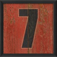 EB Number 7 wooden red