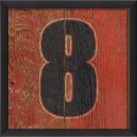 EB Number 8 wooden red