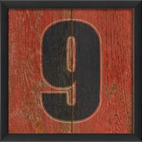 EB Number 9 wooden red