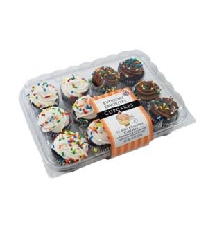 EVERYDAY FAVORITES MINI CHOCOLATE CUPCAKES 12CT
