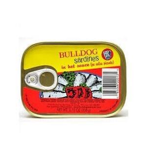 BULLDOG SARDINES HOT SAUCE 3.75OZ