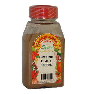 CASABLANCA GROUND BLACK PEPPER 6 OZ