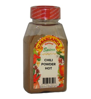 CASABLANCA SPICES CHILI POWDER HOT 7OZ