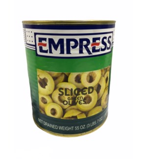 EMPRESS SLICED GREEN OLIVES WITH PEMINTO GAL