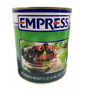 EMPRESS PITTED EX LARGE RIPE OLIVES GAL