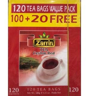 ZARRIN TEA RED (TEA BAGS) VALUE PK 120 CT