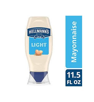 HELLMANN'S REAL LIGHT MAYO SQUEEZE 11.5OZ