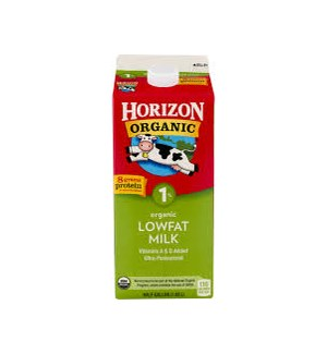 HORIZON ORGANIC MILK 1% LOW FAT 64OZ