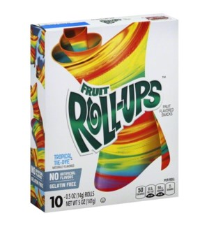 FRUIT ROLL-UPS TROPICAL TIE-DYE 10CT