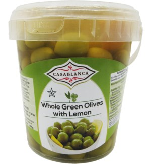 CASABLANCA WHOLE GREEN OLIVES WITH LEMON 500 G