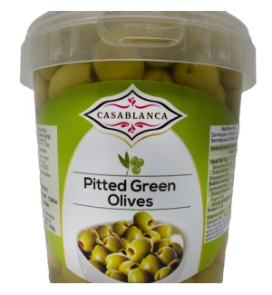 CASABLANCA PITTED GREEN OLIVES 500 G