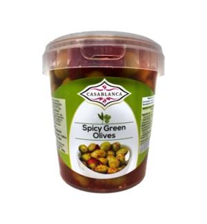 CASABLANCA SPICY GREEN OLIVES 500 G
