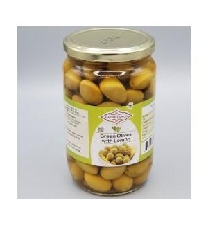 CASABLANCA GREEN OLIVES WITH LEMON 380 G