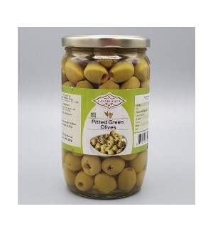 CASABLANCA PITTED GREEN OLIVES 380 G