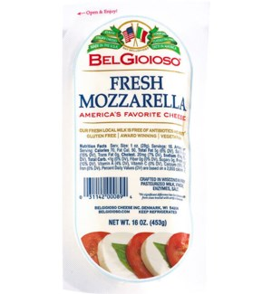 BELGIOSO FRESH MOZARELLA CHEESE 16 OZ