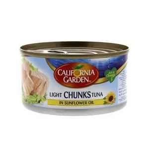 CALIFORNIA GARDEN SUNFLOWER OIL TUNA 185G