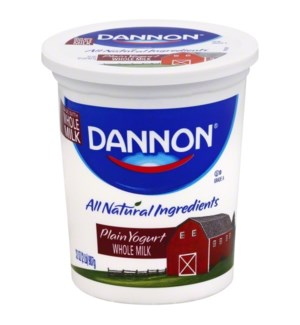 DANNON PLAIN YOGURT 32 OZ