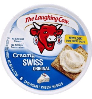 LAUGHING COW CHEESE WEDGE CREAMY SWISS 6OZ