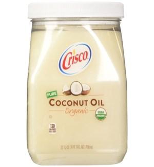 CRISCO ORGANIC COCONUT OIL 27 OZ