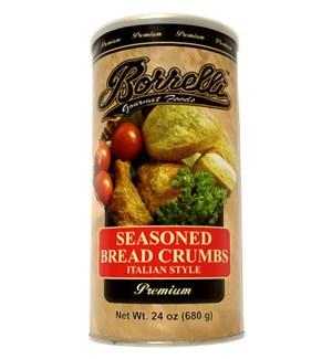 BORELLI BREAD CRUMBS SEASONED 24 OZ