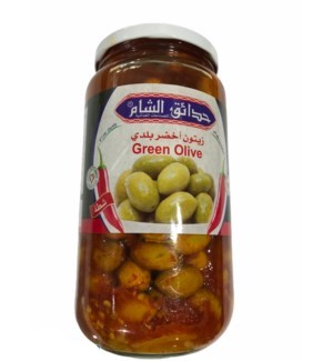 SHAM GARDENS GREEN OLIVES WITH SHATTA 1000G