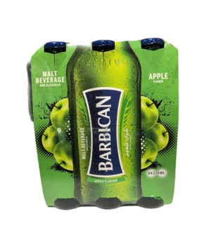 BARBICAN MALT DRINK APPLE 6 PK NON ALCOHOLIC