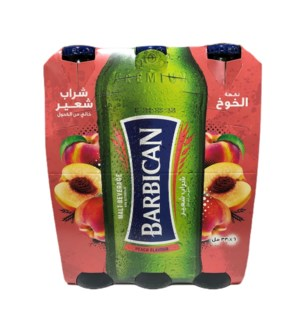 BARBICAN MALT DRINK PEACH 6 PK NON ALCOHOLIC