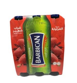 BARBICAN MALT DRINK STRAWBERRY 6 PK NON ALCOHOLIC