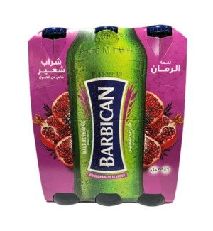 BARBICAN MALT DRINK POMEGRANATE 6 PK NON ALCOHOLIC