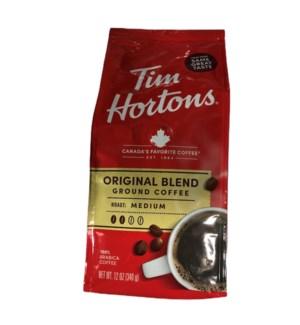 TIM HORTONS REGULAR COFFEE 12 OZ