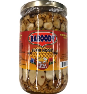 BAROODY SUPER HONEY W/NUTS 720 G