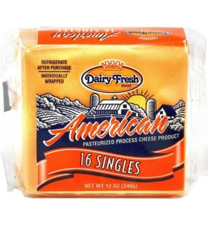 DAIRY FRESH AMERICAN CHEESE 16 CT 12 OZ