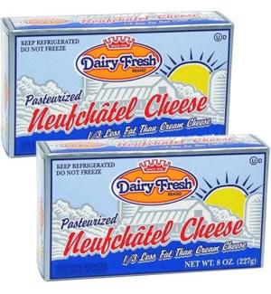 DAIRY FRESH 1/3 LESS FAT CREAM CHEESE 8 OZ